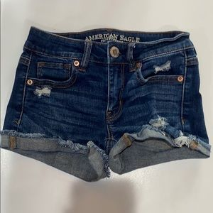 American eagle low rise jean shorts